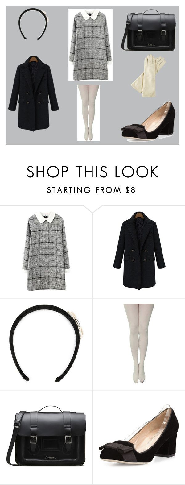 60' by sylwia-wojtczyk on Polyvore featuring moda, Valentino, Dr. Martens and Salvatore Ferragamo
