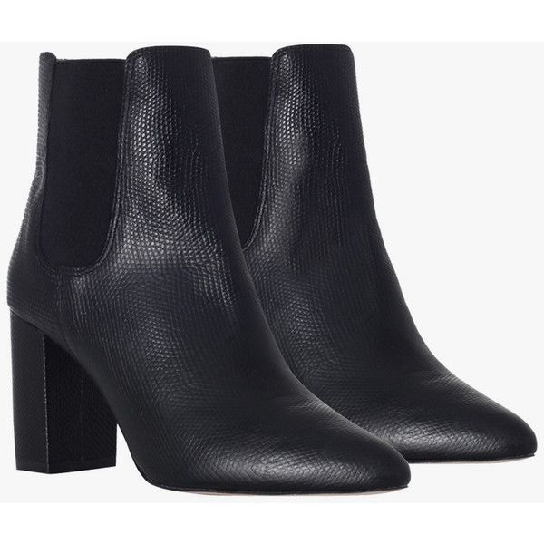 Zimmermann High Heeled Chelsea Boot - Black ($220) ❤ liked on Polyvore featuring shoes, boots, ankle booties, heels, high heel booties, heel boots, black ankle booties, heeled booties и fur lined boots