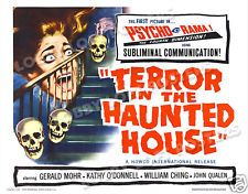 TERROR IN THE HAUNTED HOUSE LOBBY CARD POSTER HS 1958 MY WORLD DIES SCREAMING