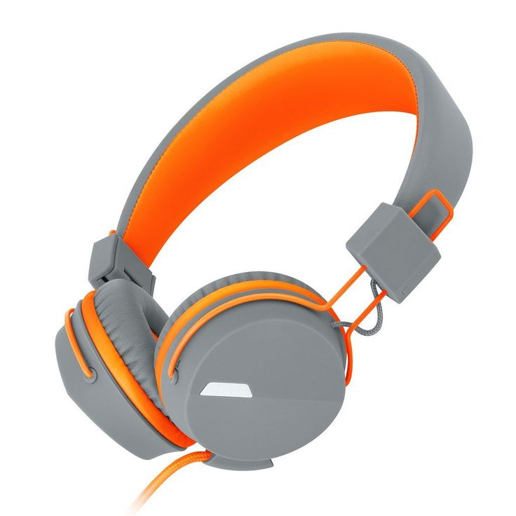 Generic Headphones with In-line Microphone for Smart Phones 852 Orange. Adjustable and supple leather headbands provide super comfortable and secure fit. 90-degree folding ear cups and foldable lightweight design make it flexible and portable. 3.5mm plug and 4.75 ft.cord,Frequency response 20Hz-20kHz,Sensitivity:-42dB+/-3dBH.