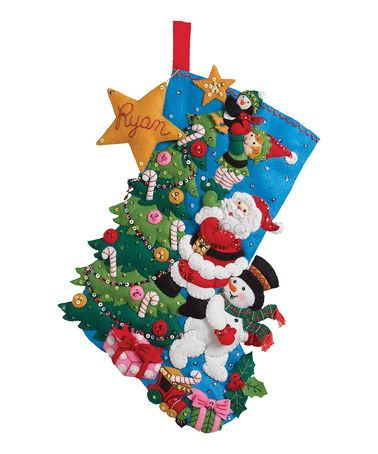 Take a look at this Finishing Touch Stocking Embroidery Kit by Bucilla on #zulily today!