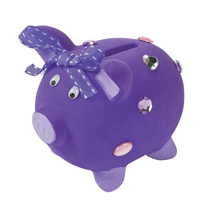 Design Your Own Ceramic Piggy Banks - OrientalTrading.com