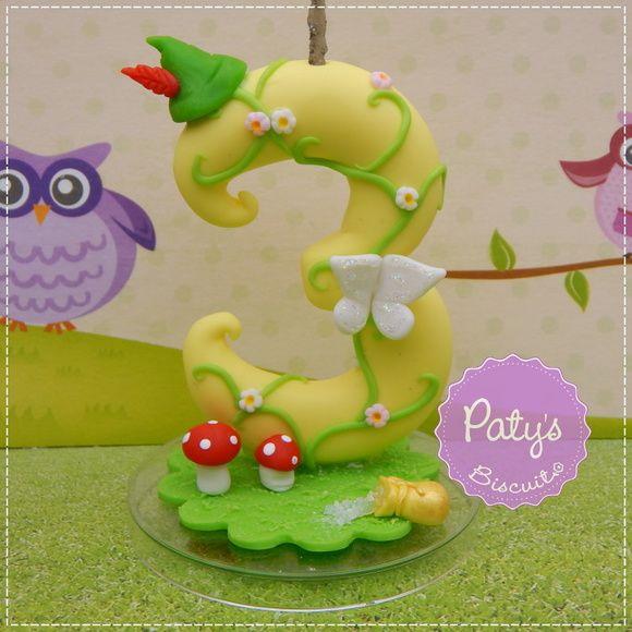 Vela Decorada Peter Pan - Festa Infantil - Paty's Biscuit