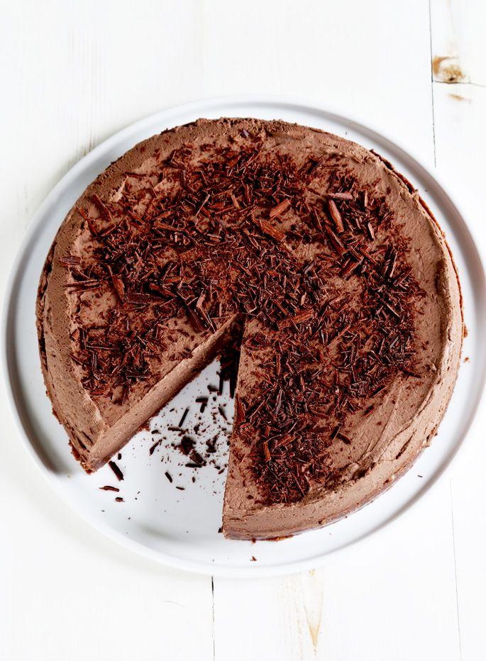 Gluten Free No Bake Chocolate Cheesecake
