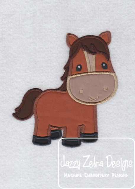 Horse Applique Design by JazzyZebraDesigns on Etsy, $4.00