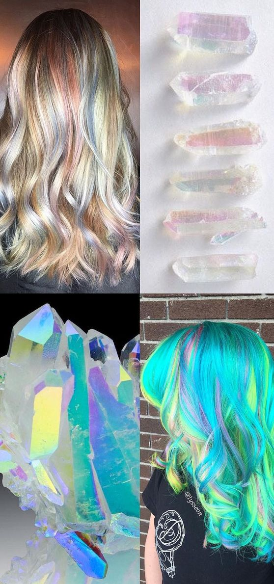 This new hair trend hides and disperses spectacular bursts of color within your natural hair—just like a geode!