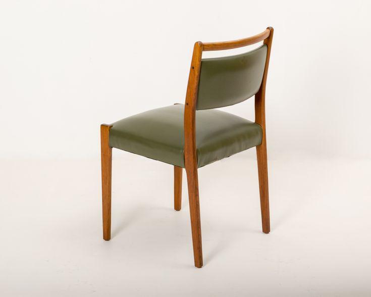 Teak Accent Chair Avocado Upholstery by Noblett Furniture Australia, ca. 1960