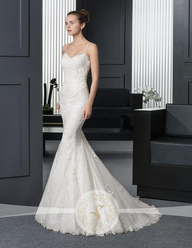 Rochie de Mireasa Eleganta Stil Sirena ❤️ Elegant Mermaid Wedding Dress