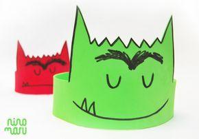DIY - Corona Monstruo Colores by Ninomaru
