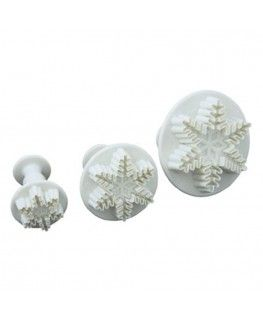 3pcs Snowflake cutters