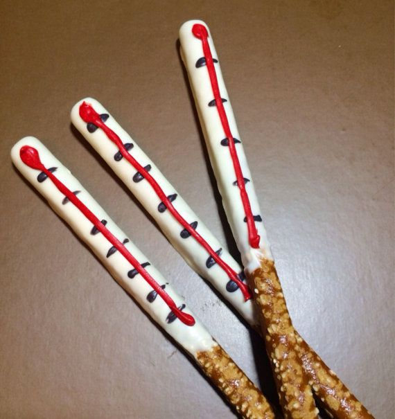 Thermometer Chocolate Covered Pretzel Rods - Doc McStuffins Birthday Party