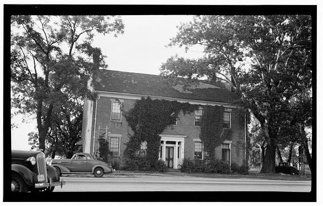 Red Brick Tavern, U.S. Route 40, Lafayette, Madison County, OH - back in the day