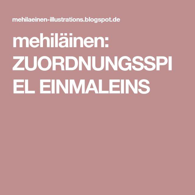 mehiläinen: ZUORDNUNGSSPIEL EINMALEINS