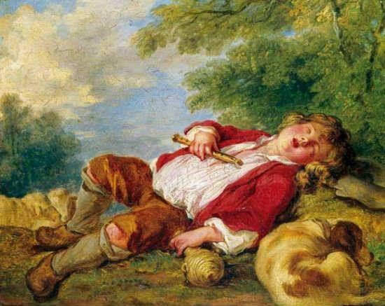 El pastor durmiente de Francois Boucher - Destruido por la madre del que la robó en 2001