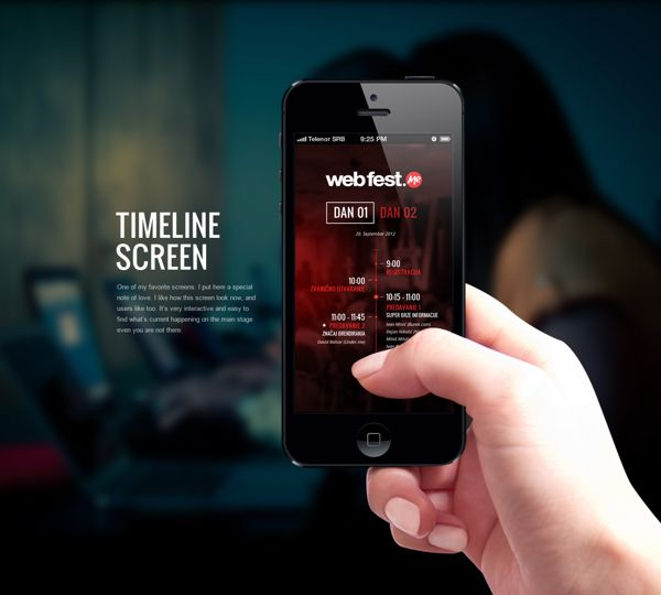 WebFest - iPhone App by Nemanja Ivanovic, via Behance