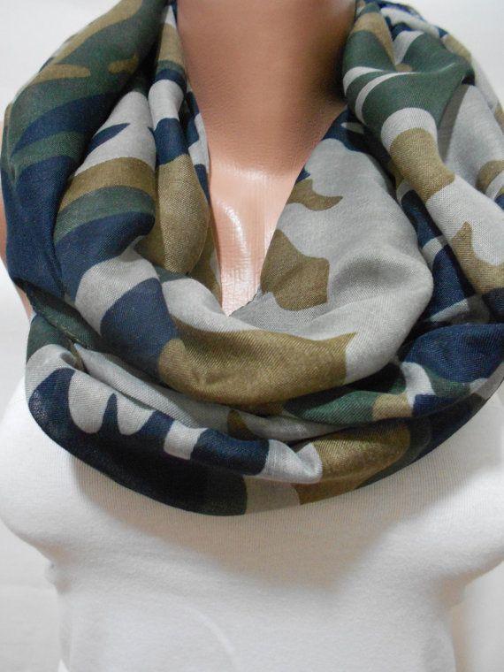 Military Scarf Shawl Camouflage Pattern Scarf Shawl by ScarfClub