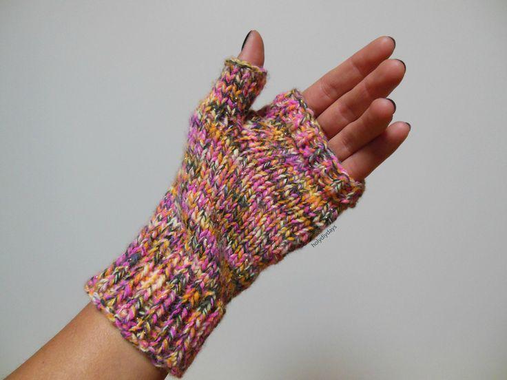 Modèle tricot mitaine colorée