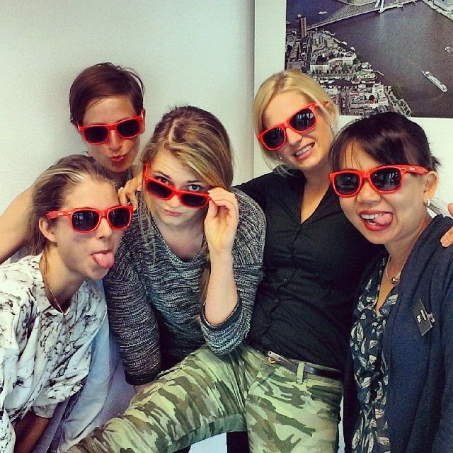 """@nhow Rotterdam's photo: """"The @nhow Rotterdam team is ready for the summer with these flashy red nhow sunglasses! #summer #thisisnhow"""""""