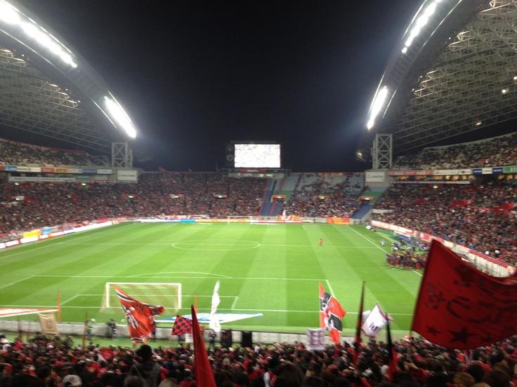 Saitama stadium 2002 view from north stand:  12/1 Jleague #34 Urawa Red diamonds vs Nagoya Grampus.