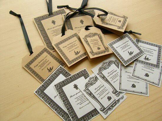 アンティークなフレームラベルの紙タグカード&シールのセット - ハンドメイドと雑貨の小さなお店 Small Wish
