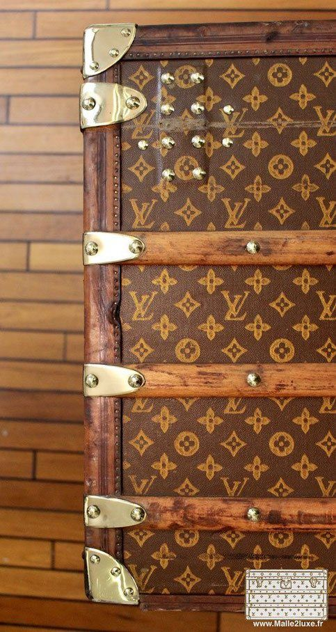 laiton brillant laiton massif trunk louis vuitton old