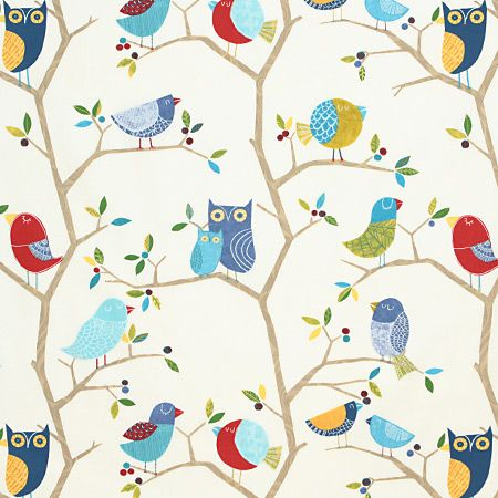 owl curtains  | ... owls and birds in 3 colours, fantastic for kids curtains and blinds