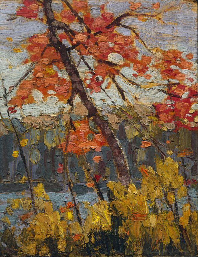 Tom Thomson (1877 - 1917), Twisted Maple, 1914, oil on plywood,  26.7 x 20.9 cm, Gift of Mrs. Margaret Thomson Tweedale, 1974.9.4