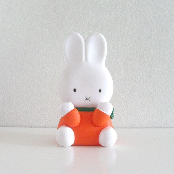 Vintage Squeaky Toy 1980s Dick Bruna Miffy Bunny by ismoyo on Etsy