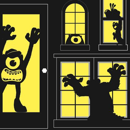 1000 id es sur le th me fen tre de silhouettes d 39 halloween for Idee decoration porte halloween