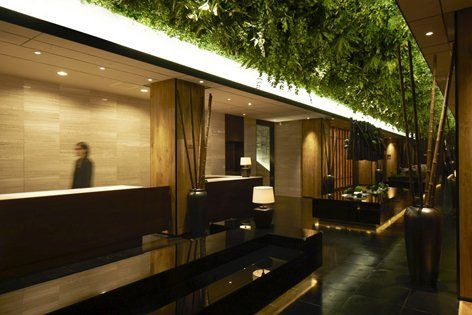 This place for underground section, needed to consider the natural environment. By it, we installed a belt of green on the ceiling. In addition, we use the reflection of the mirror. 'Green Belt' spreads out forever. It is fantastic and is...