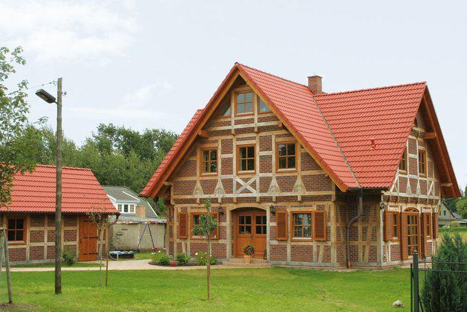 Viergiebelhaus in fachwerk birgit von christianus for Holz fachwerkhaus