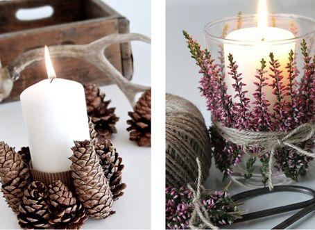 ideas creativas para decorar mesa de navidad con elementos naturales