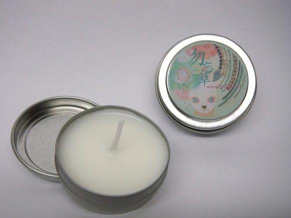 クリエイターの増田智己さん(http://www.creema.jp/c/tomomi_masuda )にラベルデザインして頂いた小さい缶に入ったロウソクです...|ハンドメイド、手作り、手仕事品の通販・販売・購入ならCreema。