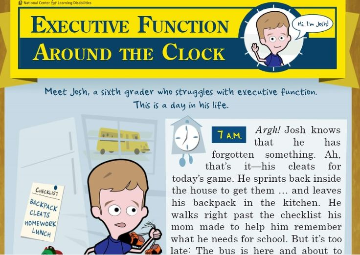 Imagine the Life of a Student with an Executive Function Disorder.....