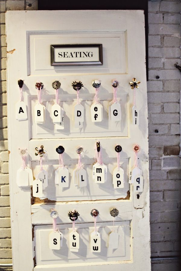Hereu0027s another vintage door seating chart idea! Love the use of vintage door knobs prefect for the rustic shabby vintage wedding. & 86 best Doors Screens and Shutters images on Pinterest | Rustic ...