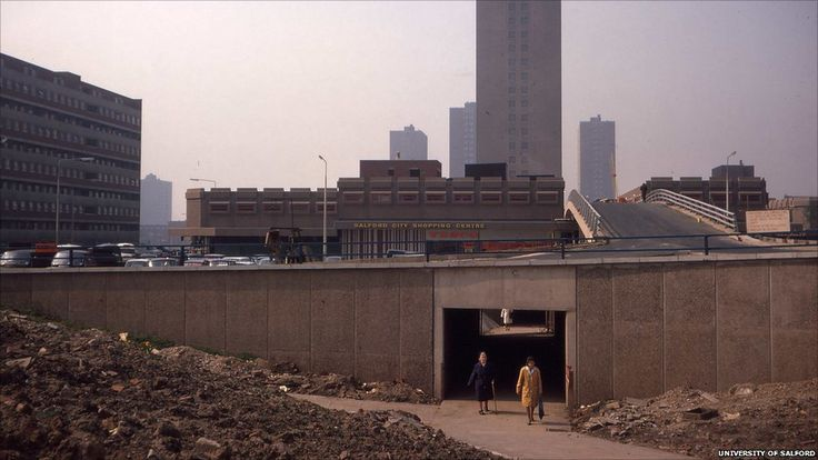 Salford City Shopping Centre in the 1970s