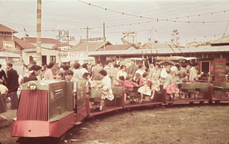 Children's Train at Royal Melbourne Show, Ascot Vale, 1956