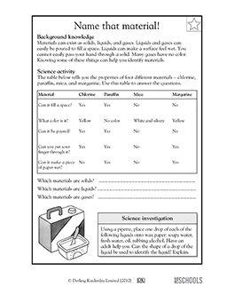 3rd grade 4th grade science worksheets solid liquid or. Black Bedroom Furniture Sets. Home Design Ideas