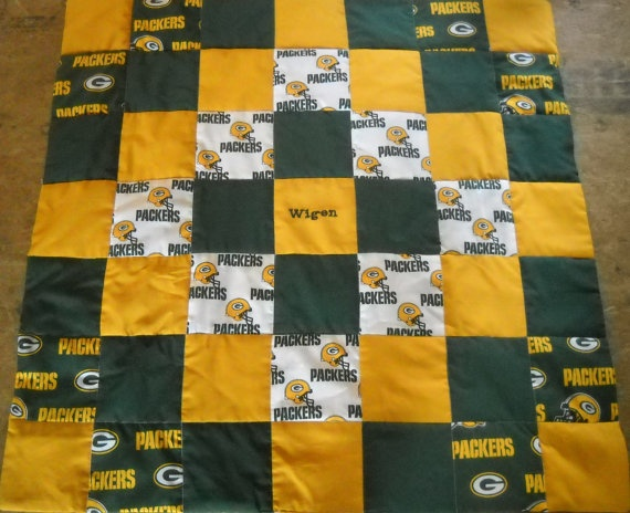 Handmade Green Bay Packers Baby Quilt by OzarkMountainQuilts, $25.00