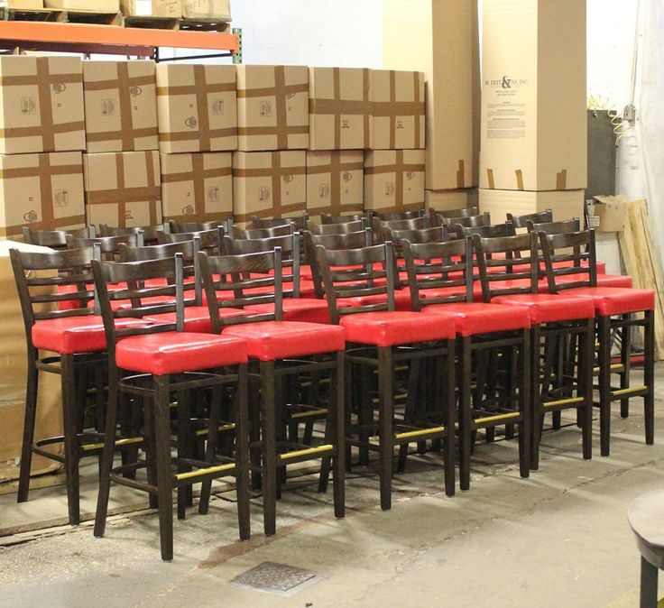 Heavy Duty Ladder Back Stool – Model 640 ready to be shipped to an new Gold Star Chili location in Kentucky!  RestaurantChairs.com #restaurantchairs #hospitalitydesign #ladderbackstool