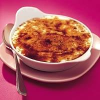 Recept - Yoghurt-crème brûlée met framboos en  perzik - Allerhande