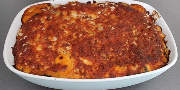Lasagne med spinat og oksekød