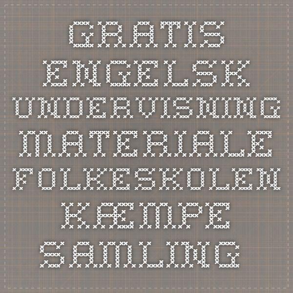 Gratis engelsk undervisning materiale folkeskolen - Kæmpe samling af opgaver til den tidlige engelskundervisning, primært til ordforrådsdannelse og træning af grammatik (OBS! Virker ikke i alle browsere, hos mig virker det ikke med Google Chrome, men fint med Internet Explorer)