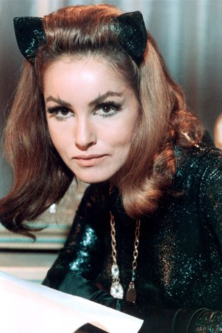 Julie Newmar (Catwoman in the 1970's TV Series Batman).  I loved her.  So MEOWWW! Pssssssss!