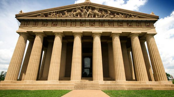 """This full-scale replica of the Parthenon was built to celebrate the 100th anniversary of Tennessee's statehood. Nashville's reputation as the """"Athens of the South"""" (the city is home to many colleges and universities) sparked the idea for the replica."""