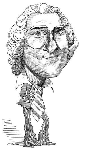 Jean Jacques Rousseau | Caricatures by David Levine ...