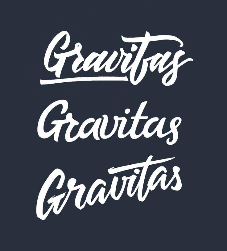 Gravitas letters for branding