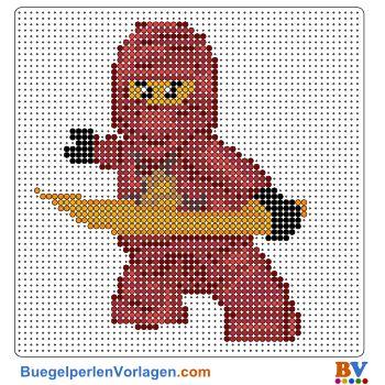 LEGO Ninjago Bügelperlen Vorlage