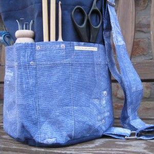 """""""Farmer"""" kézimunka táska - sötétkék - III-as típus"""
