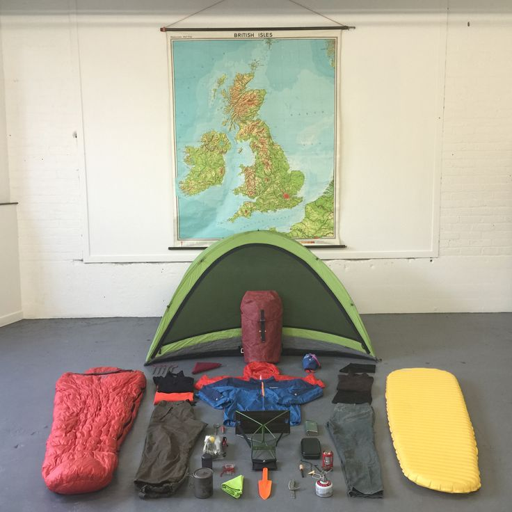 Packing a Trakke Krukke Backpack for a weekend of exploring in the highlands. All of the kit on this board, and more, were packed inside!